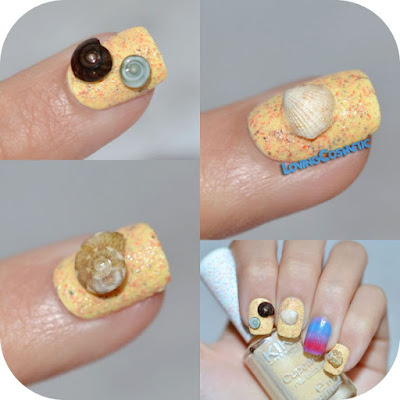 Nail art Lisa Simpson Reto Simpson yo amo a lisa nail art uñas verano 2015 summer nails aliexpress conchas naturales
