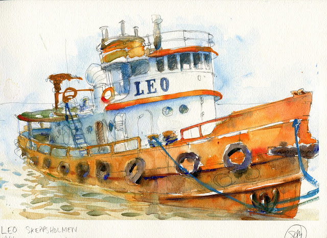 A watercolour sketch by David Meldrum