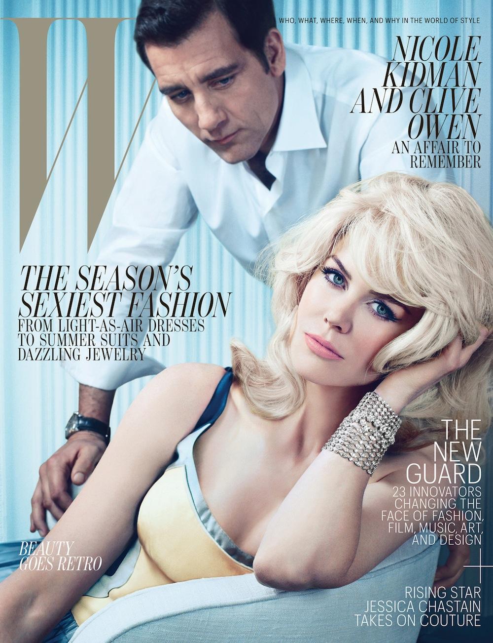 W Magazine May 2012: Nicole Kidman & Clive Owen by Emma Summerton