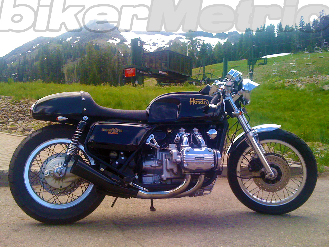 Finally This 1979 Black And Gold Cafe Racer Honda Gl1000