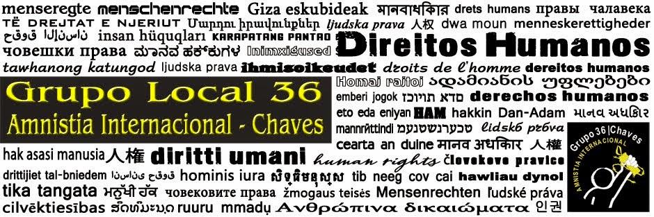 GRUPO 36|CHAVES DA AMNISTIA INTERNACIONAL