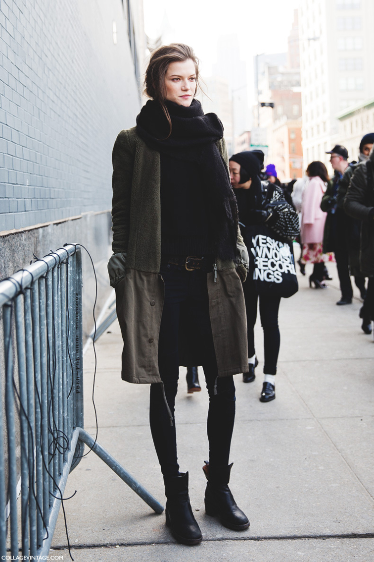Kasia Struss street style, New York fashion week, model off duty