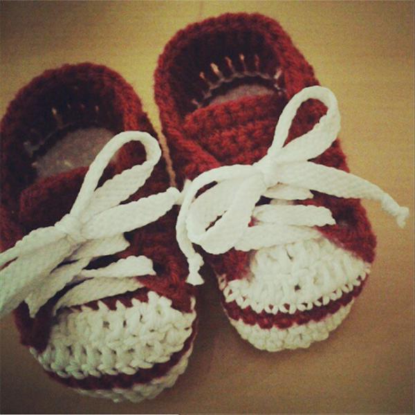 Zapatos ALL STAR para Bebé a Crochet