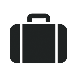 Vector illustrator briefcase mono icon for designer and Developer .