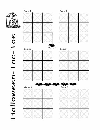 Tic Tac Toe Pages | The Puzzle Den Halloween Tic Tac Toe Freebie