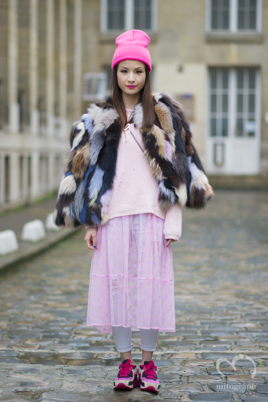 Head of Merchandising of IT HongKong and China Tracey Cheng at Paris Fashion Week
