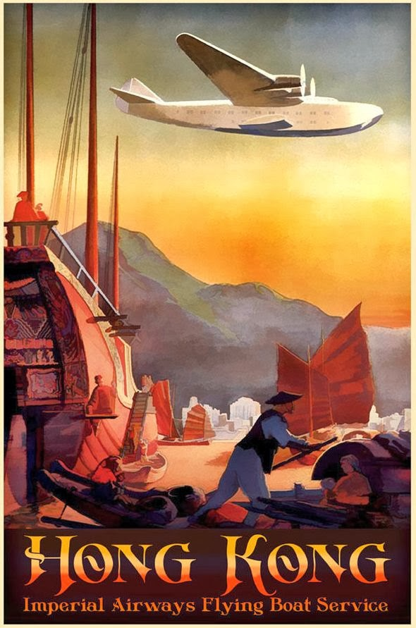 Transpress Nz Imperial Airways Flying Boat Poster