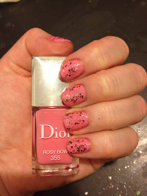 Dior, Dior Rosy Bow, Essie, Essie A Cut Above, nail polish, nail varnish, nail lacquer, manicure, mani monday, #manimonday, nails