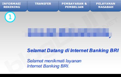 menu saldo bri internet banking