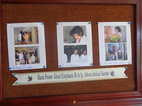 El último culto memorial en recordación de Gissel Estephanie, se efectuó  el Viernes 24 de Octubre las 3:00 a casa llena en La 1era Iglesia Jehová Justicia Nuestra.
