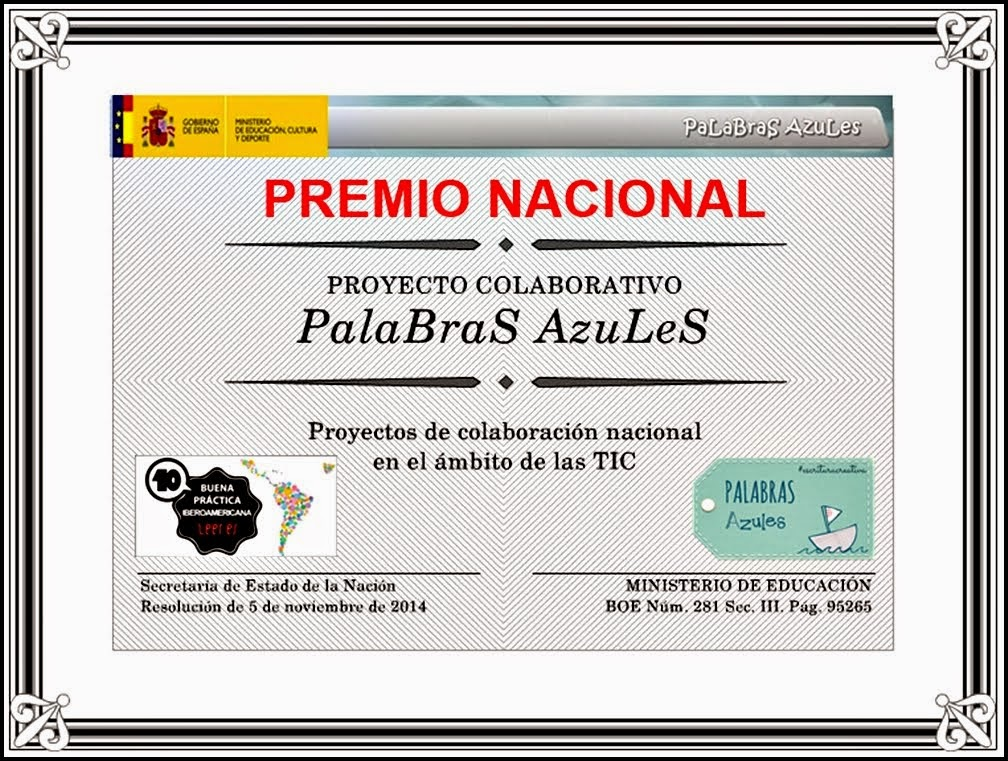 ¡PREMIO NACIONAL!