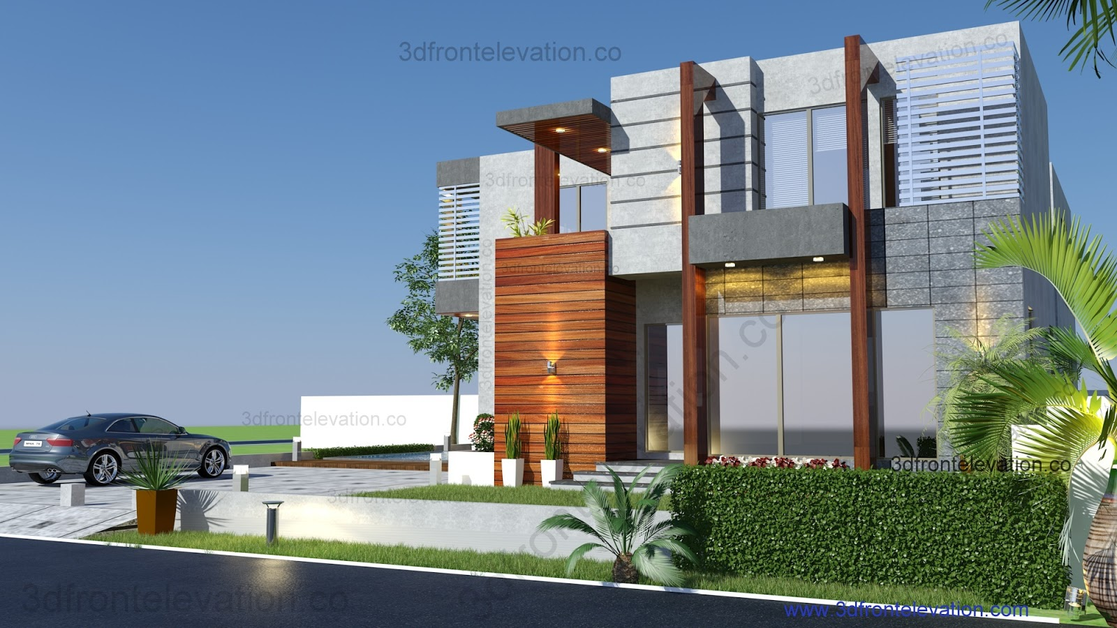 3d front 10 best housing designs of 2016 for Kerala building elevation