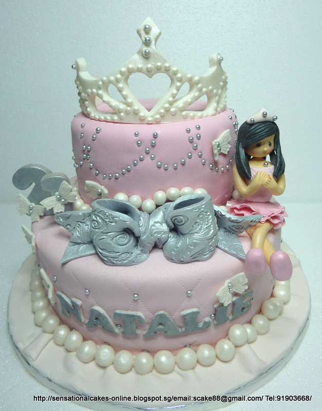 The Sensational Cakes Princess Tiara Cake Singapore 21st Birthday