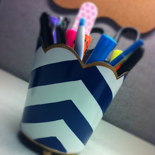 cubicle accessories chevron cup