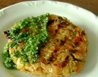 Hambúrguer de Grão-de-Bico (vegana)