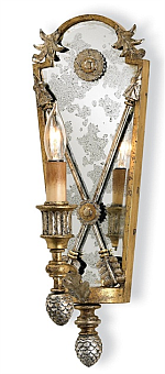 mirrored ornate sconce