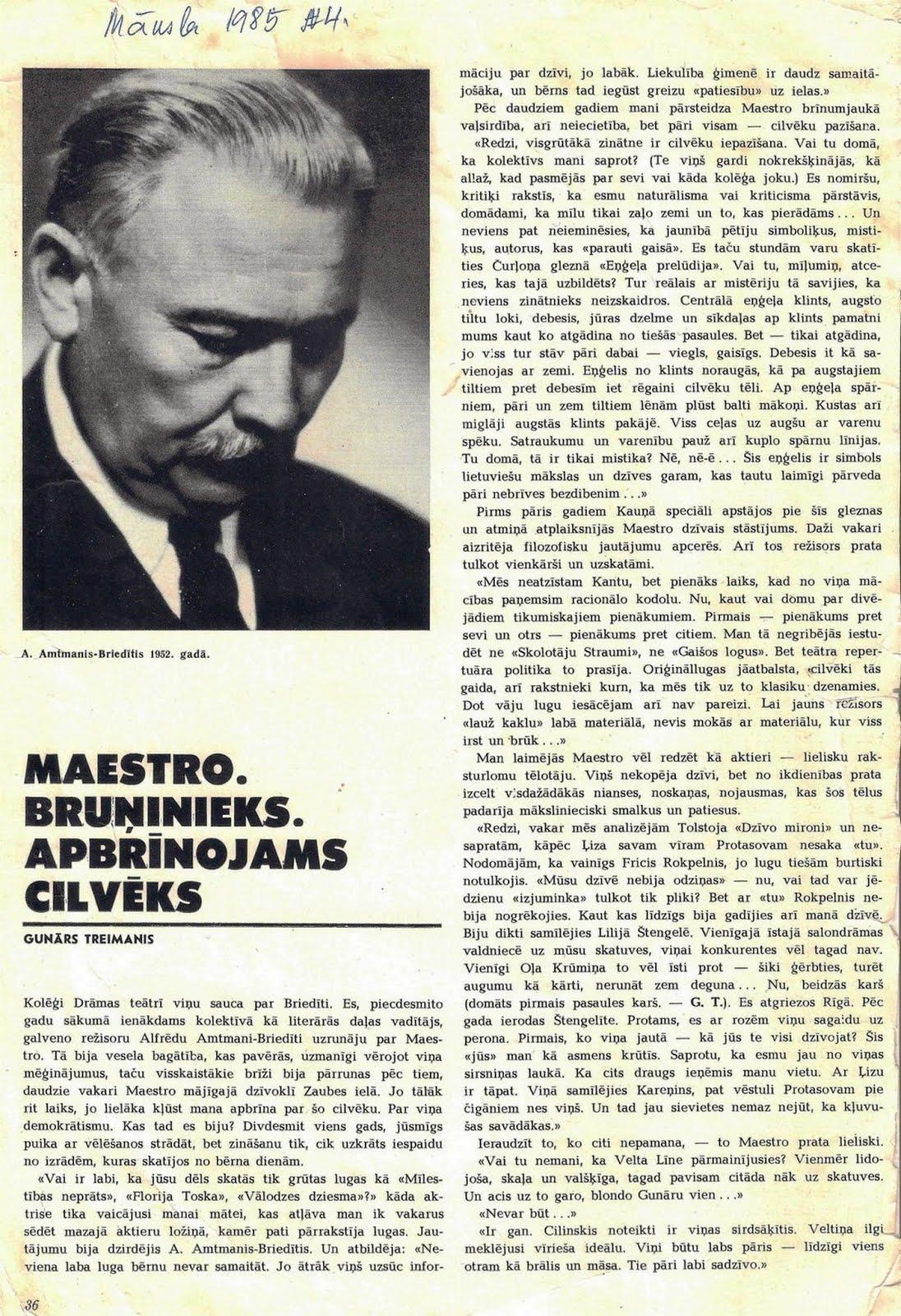 Žurnāls ,, Māksla '' 1985. gada 4. numurs