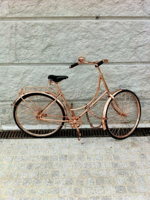 rose gold bicycle