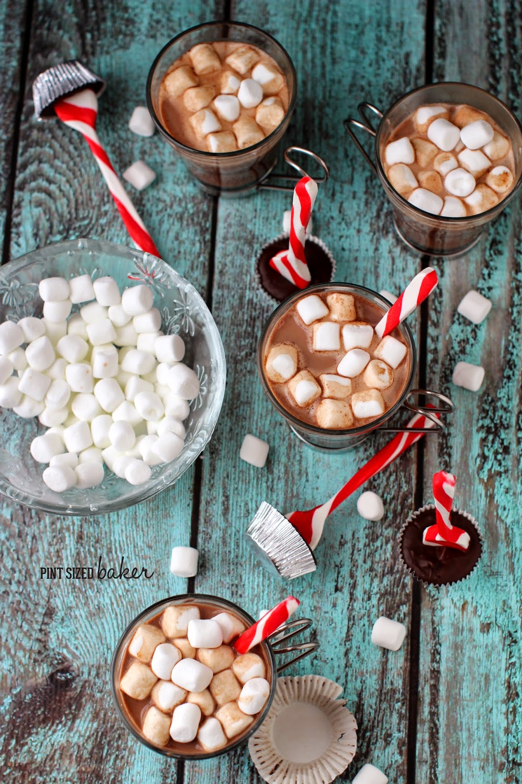 This Stove top Hot Chocolate with Peppermint Dippers taste delicious together! It'll become your favorite drink to come home to after a long day!