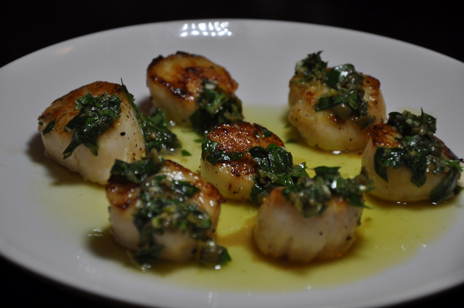 Slice of Rice: Seared Scallops with Salsa Verde