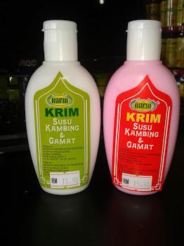 KRIM SUSU KAMBING DAN GAMAT