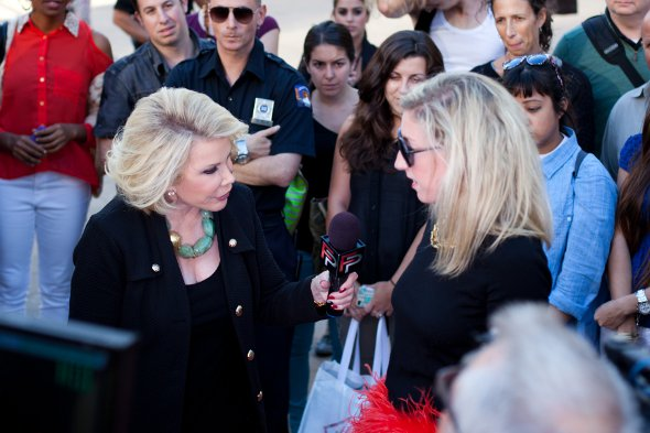 joan rivers, fashion police, interview, new york fashion week 2012 spring collection
