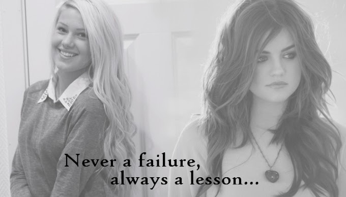 Never a failure, always a lesson . (zawieszony)