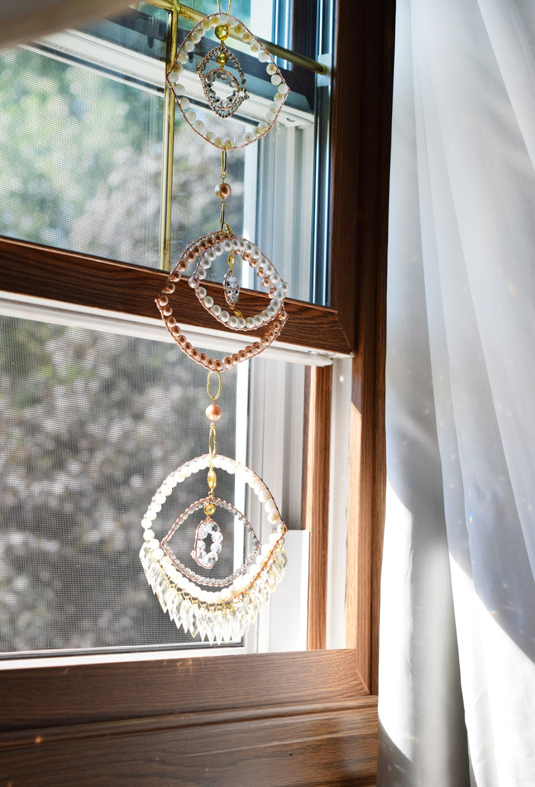 Third Eye Dreamcatcher: boho home decor by Allison Beth Cooling, quietlioncreations.com