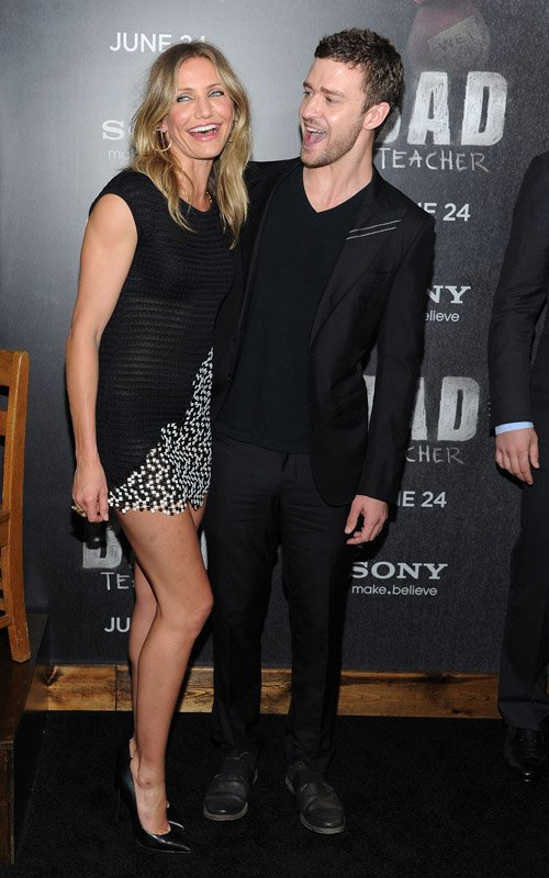 "Cameron Diaz And Justin Timberlake Do The ""Bad Teacher"" Premiere"