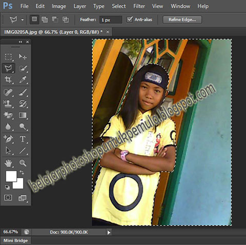 cara edit background dengan photoshop, belajar photoshop, tutorial photoshop, untuk pemula