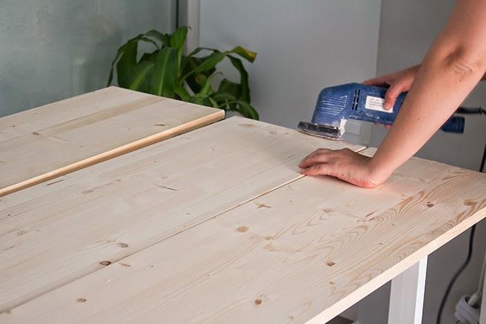Boho deco chic diy mesa de comedor de tableros de madera - Tablones de madera leroy merlin ...