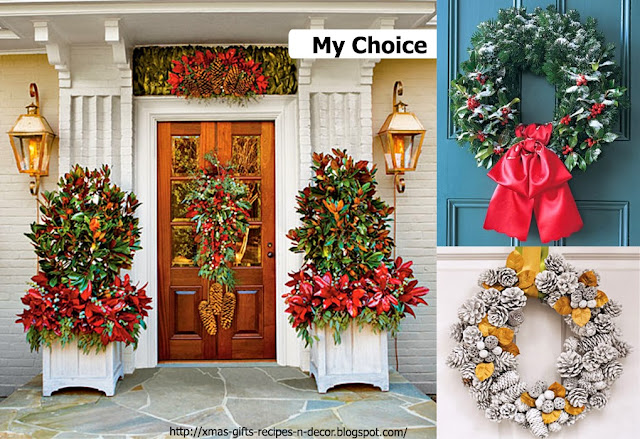 Decorating Ideas > Christmas Ideas Gifts, Recipes And Decor Front Door Xmas  ~ 060215_Christmas Decorations Ideas For Front Doors