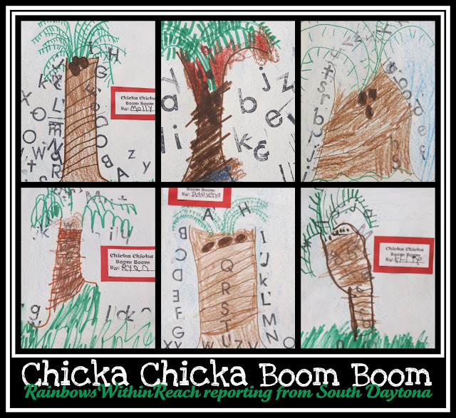 Children's Drawings for Chicka Chicka Boom Boom