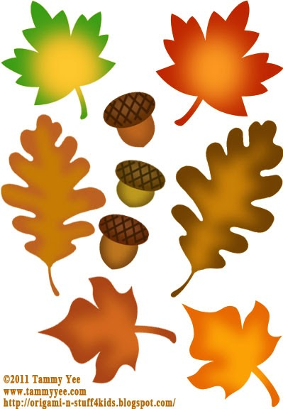 Origami n' Stuff 4 Kids: Fall Cut Out Patterns and Clip Art