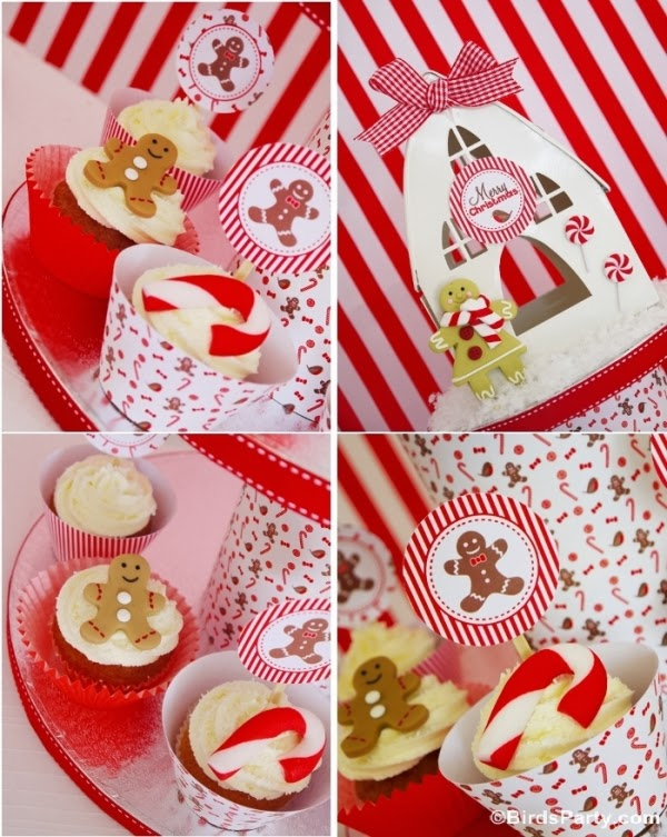 Christmas Candyland Cupcakes and Printable Wrappers