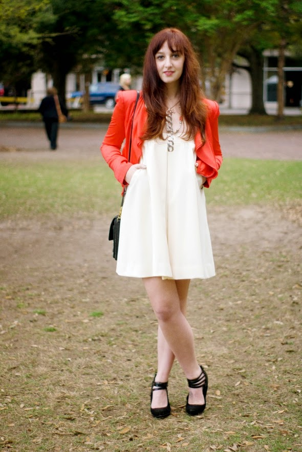 skirt as dress redheads red blazer charleston sc street style southern fashion womens fashion 590