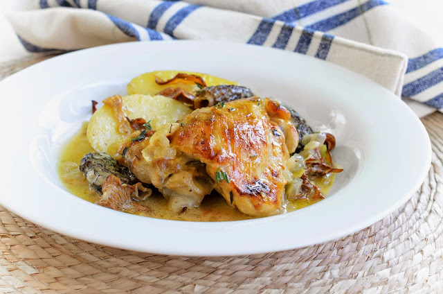 Chicken with Morel and Chanterelle Mushrooms