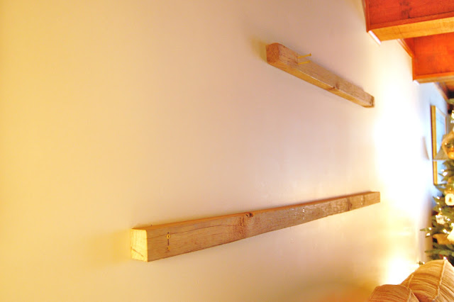 How to Make Barn Wood Floating Shelves