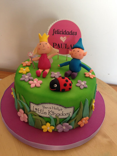 tarta fondant Ben y Holly