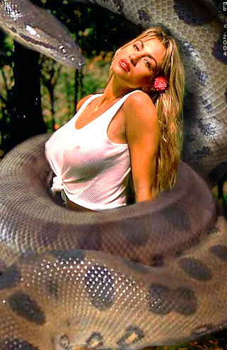 snakes squeezing girls and women