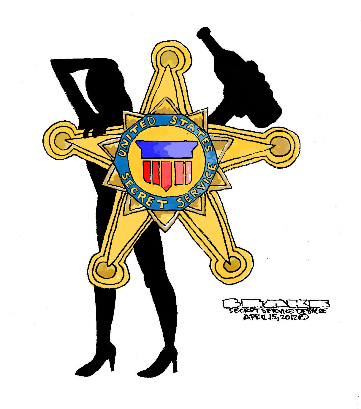 The Proud Badge of the Secret ServiceSecret Service Agents Badge