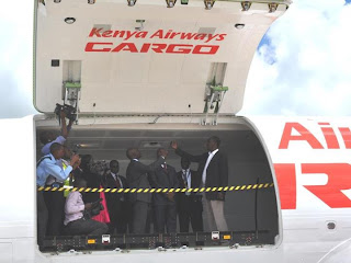 Kenya Airways Cargo 737-300F Delivery ceremony