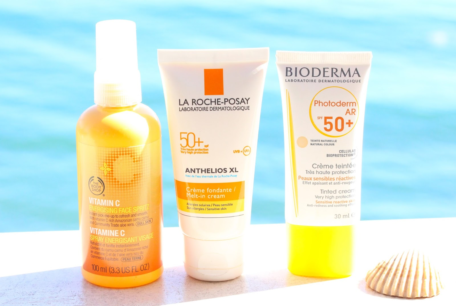 beach skincare products