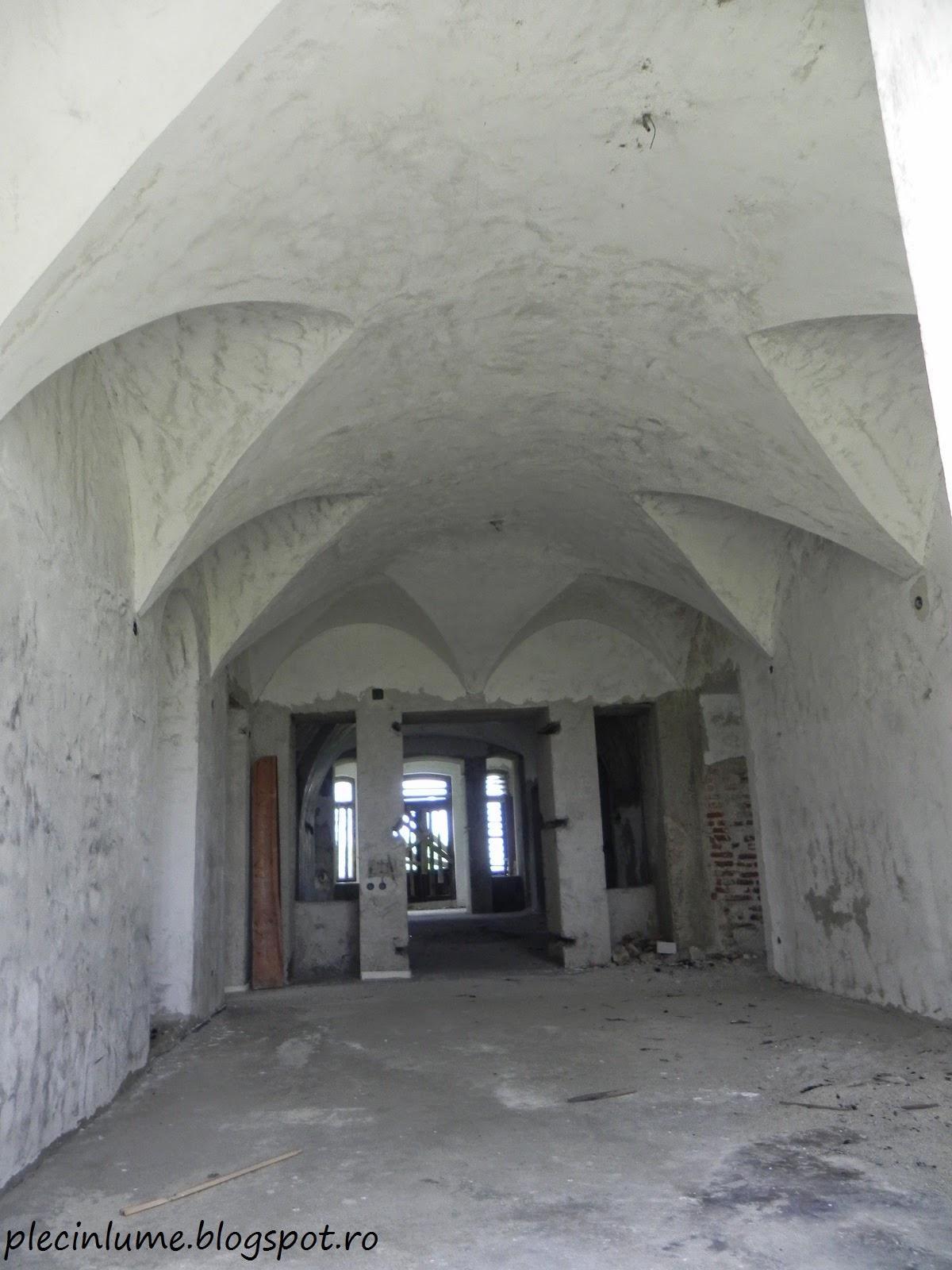 Interiorul conacului din Hagiesti