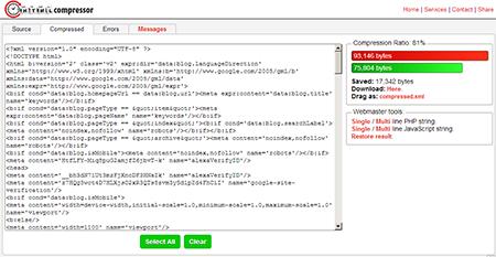 Cara Mempercepat Loading Blog Dengan Compress HTML 3