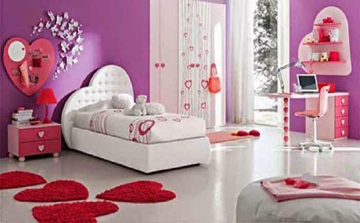 ide desain kamar tidur cewek warna pink ahli desain