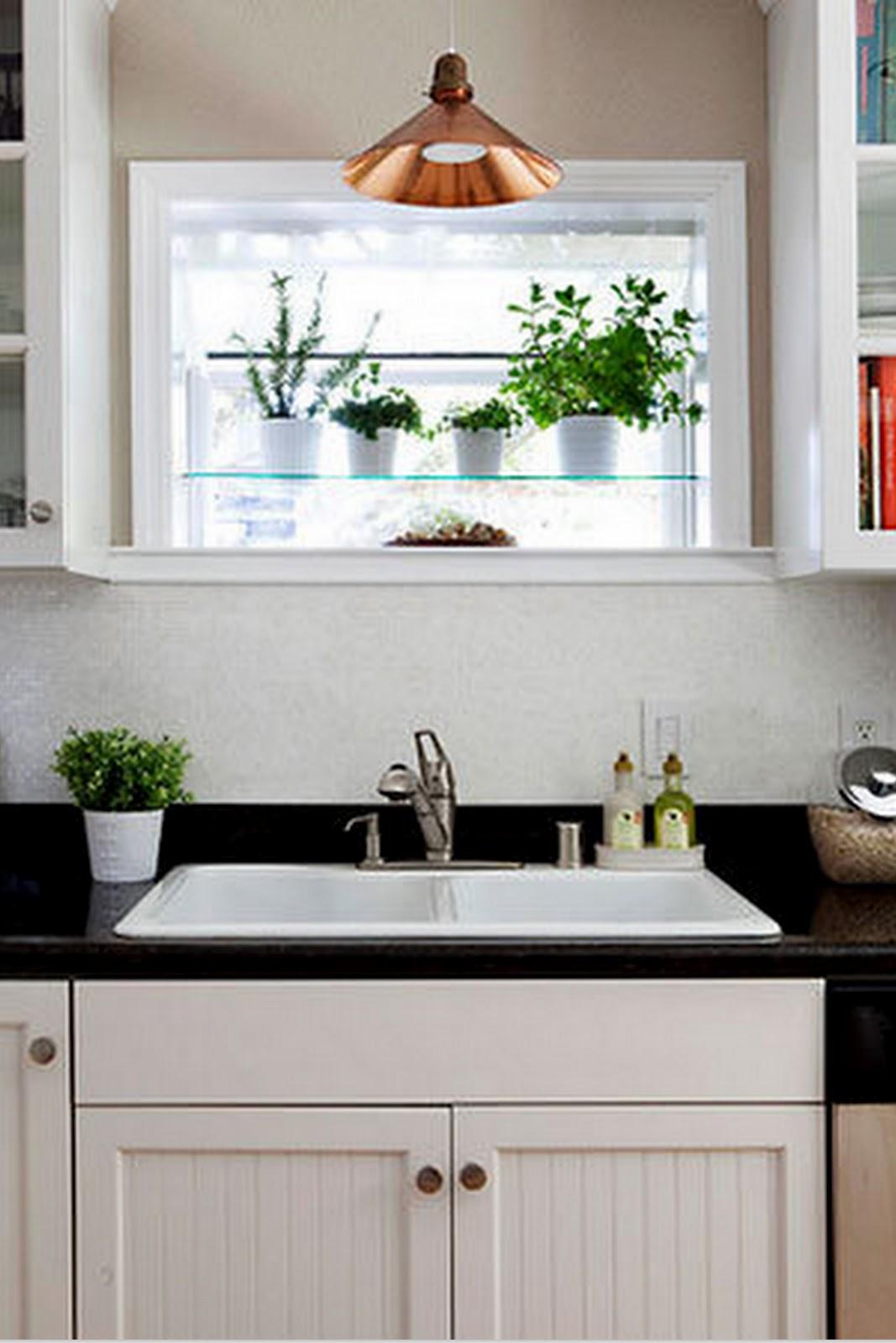#3E6624 Toques e Retoques: Prateleiras na janela da cozinha #1 42 Janelas De Vidro Cozinha