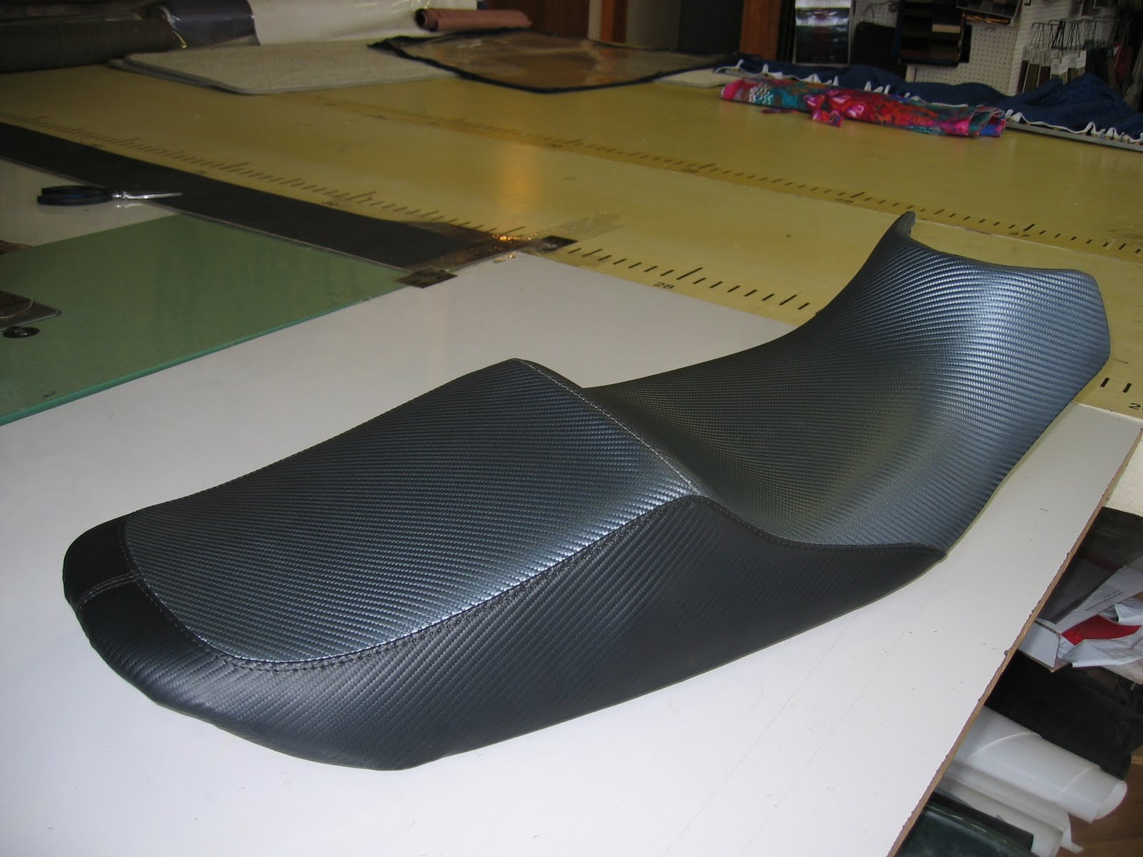 Homestyle Custom Upholstery And Awning Carbon Fiber Bike Seat - Vinyl for motorcycle seat