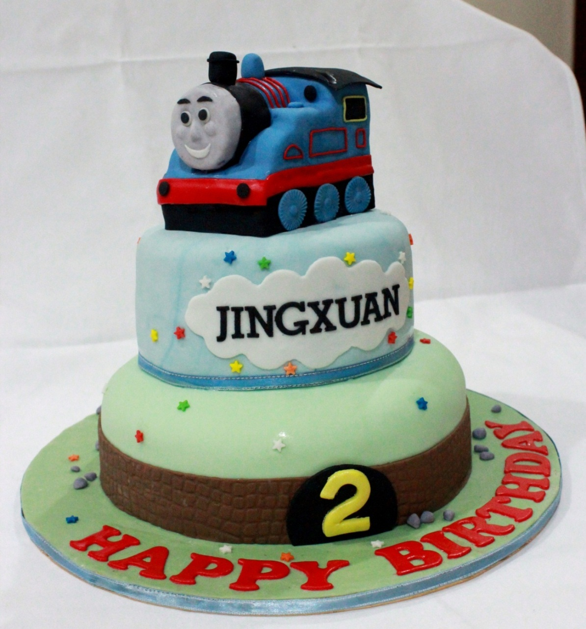 Images Of Train Birthday Cakes : Bearylicious Cakes: Thomas the Train birthday cake