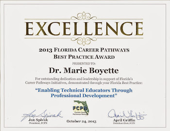 FLATE wins 2013 Florida Career Pathways Best Practice Award